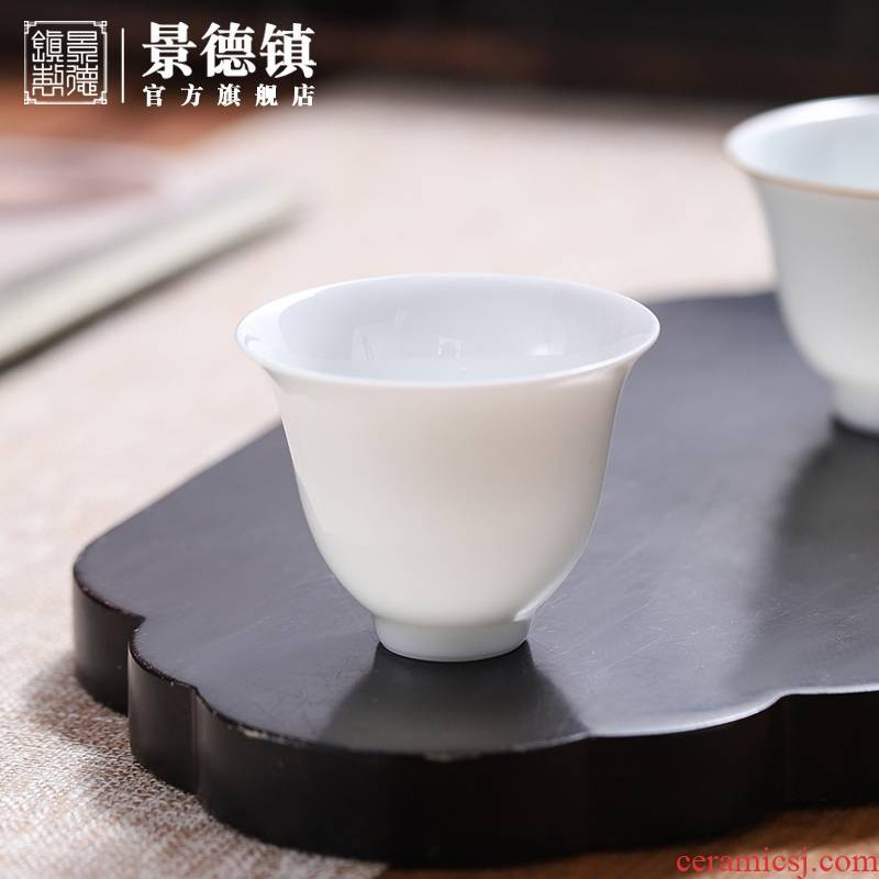 Jingdezhen flagship store owner manual white porcelain ceramic cups cup Chinese contracted individual sample tea cup household utensils