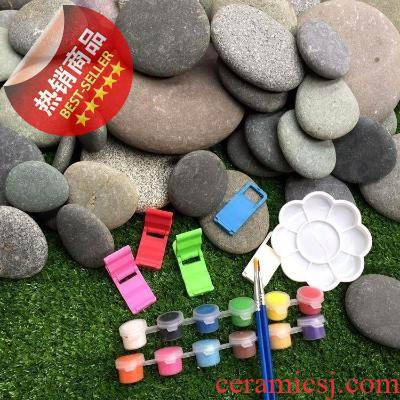 Appliance painting primary package material handicraft base R shelves put small stone ornamental stone art the introduction