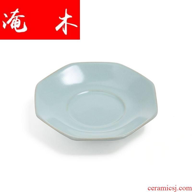 Flooded exquisite wooden your up cup tea tea zero your porcelain slice open octagonal cup mat insulating mat saucer