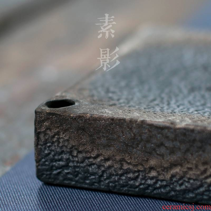 Longed for restoring ancient ways opportunely coarse ceramic POTS dry socket four penghu - glance pad small water pot holder, ceramic tea tea taking with zero