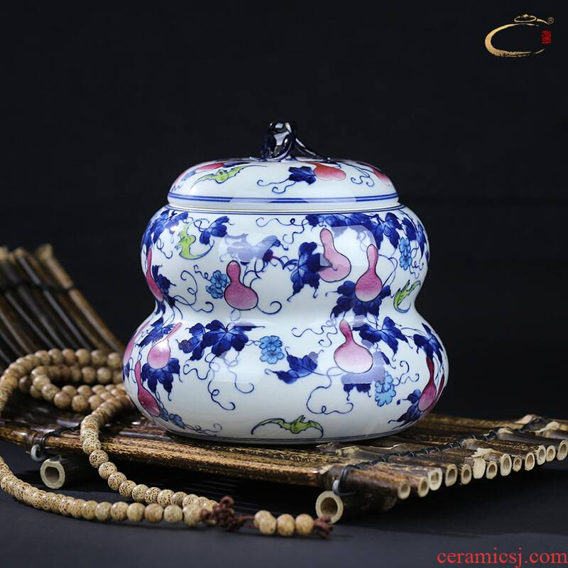 Beijing DE and auspicious jingdezhen caddy fixings checking ceramic POTS awake scattered receives POTS of tea packaging gift box