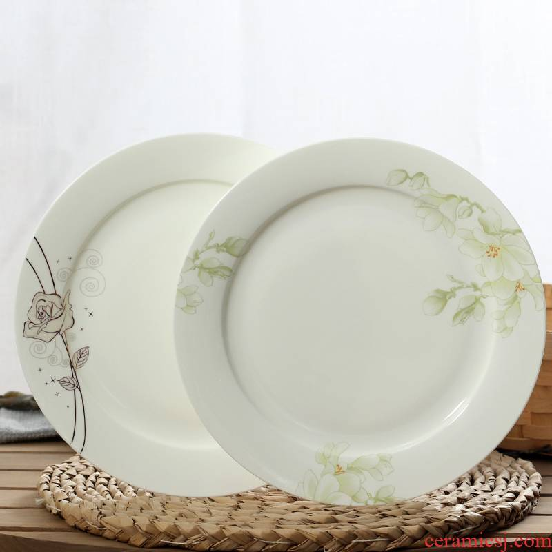 10 inches household flat ipads porcelain dish dish of large ipads plate ceramic disc beefsteak plate ipads plate ceramic plate