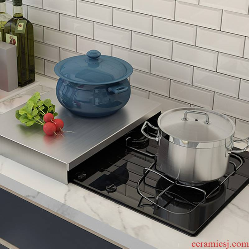 304 stainless steel kitchen shelf induction cooker shelf bracket gas gas stove cover plate to cover the base