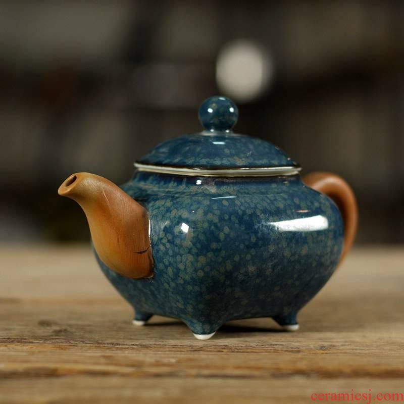 Purple clay of kung fu tea set ceramic teapot longquan celadon teapot undressed ore glaze teapot are it