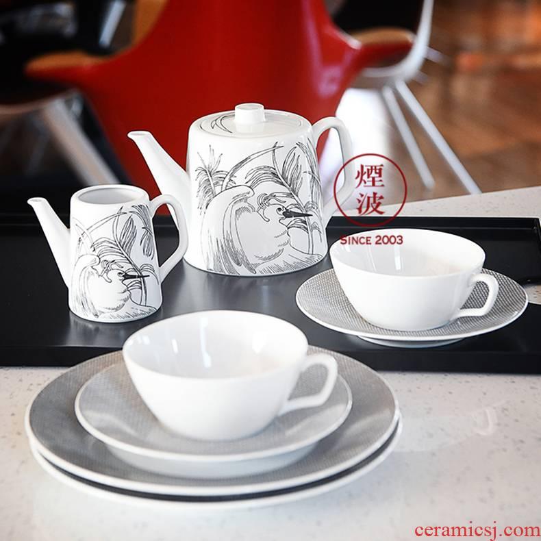 German MEISSEN porcelain mason Cosmopolitan palm series coffee set suits for