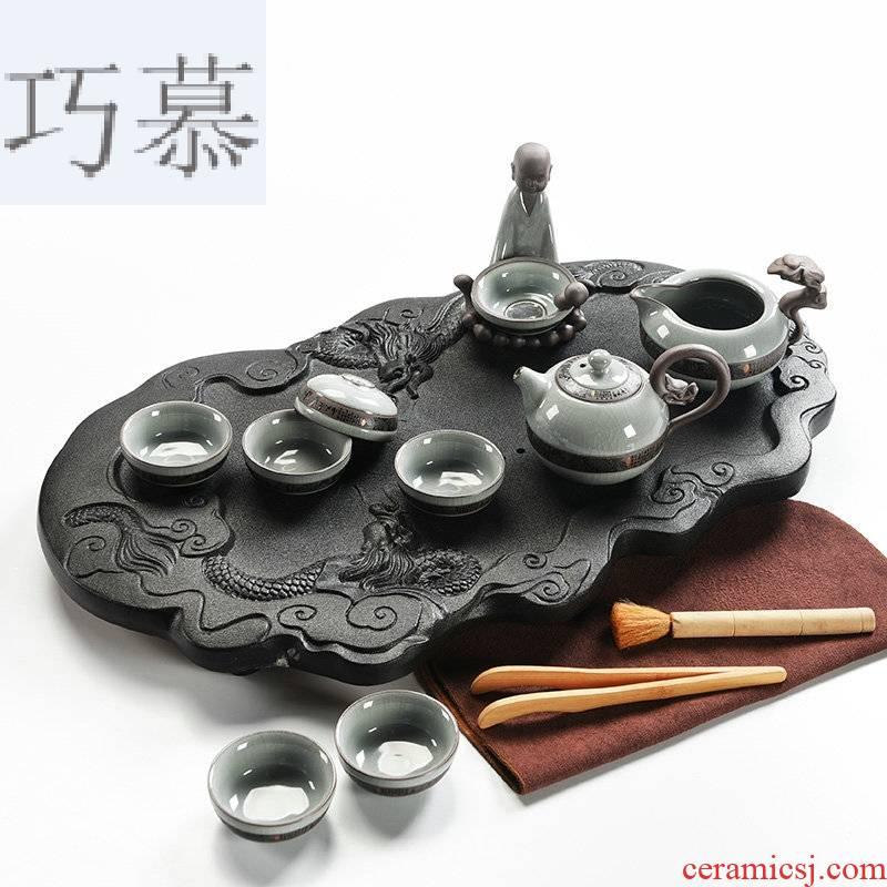 Qiao mu home your up tea set ceramic cups kung fu tea tray of black tea tea tea Japanese sea contracted