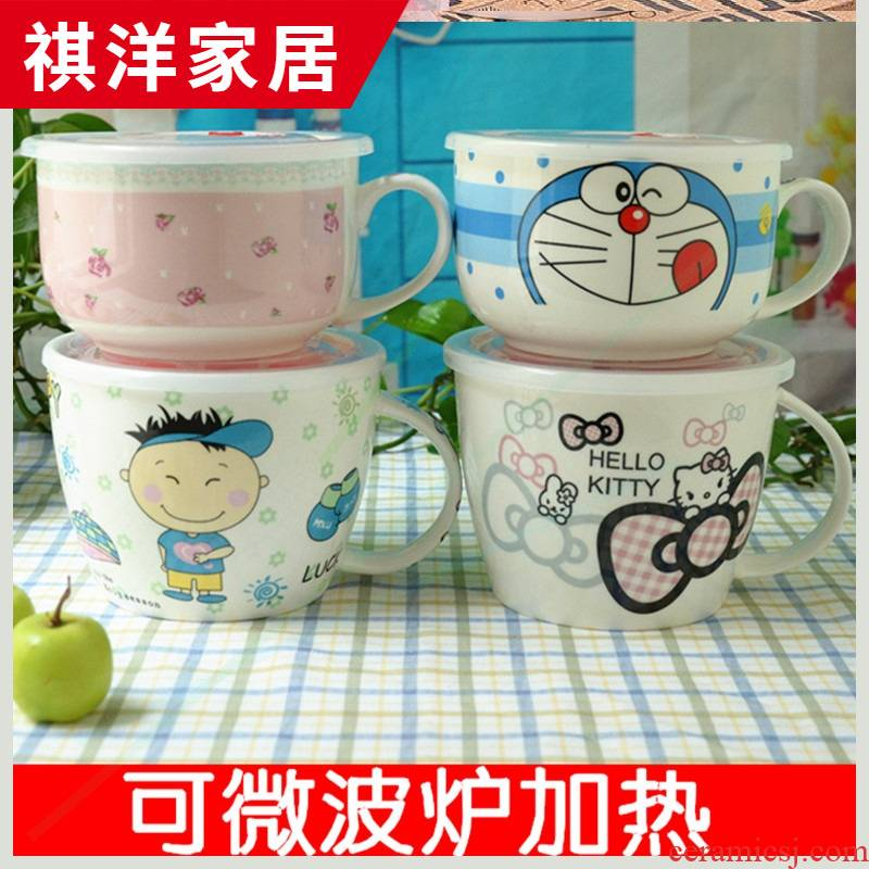 With the handles of the bowl will available ceramic bowls With handles With cover a single microwave lunch box
