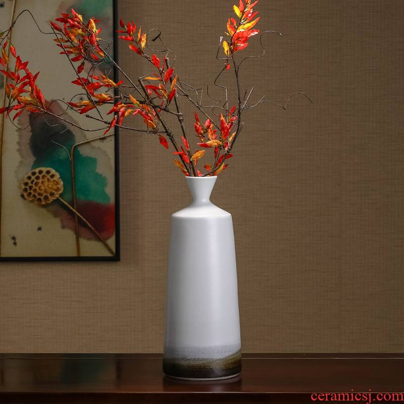 Zen ceramic vase furnishing articles dried flowers flower arrangement of new Chinese style ink porch home sitting room TV ark, adornment