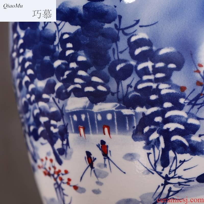 Qiao mu the empty jar pot liquor it jingdezhen 10 jins 20 jins of 50 kg to hand - made of ceramic terms jugs home