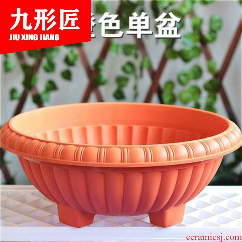 Manufacturer of high quality plastic seedling POTS thickening of inside and outside the balcony more than other meat round imitation ceramic clearance flowerpot