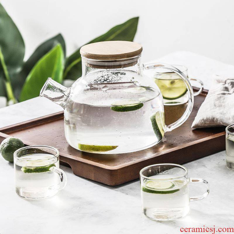 Japanese household cold cool glass kettle suit heat - resisting teapot drinking cup pot cup electric kettle TaoLu pot