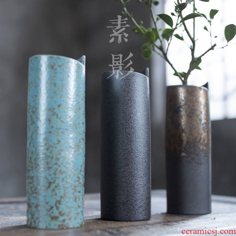 Qiao mu up shaft cone flower porcelain home decoration vase is simple but elegant floret bottle geometry contracted sitting room floral outraged