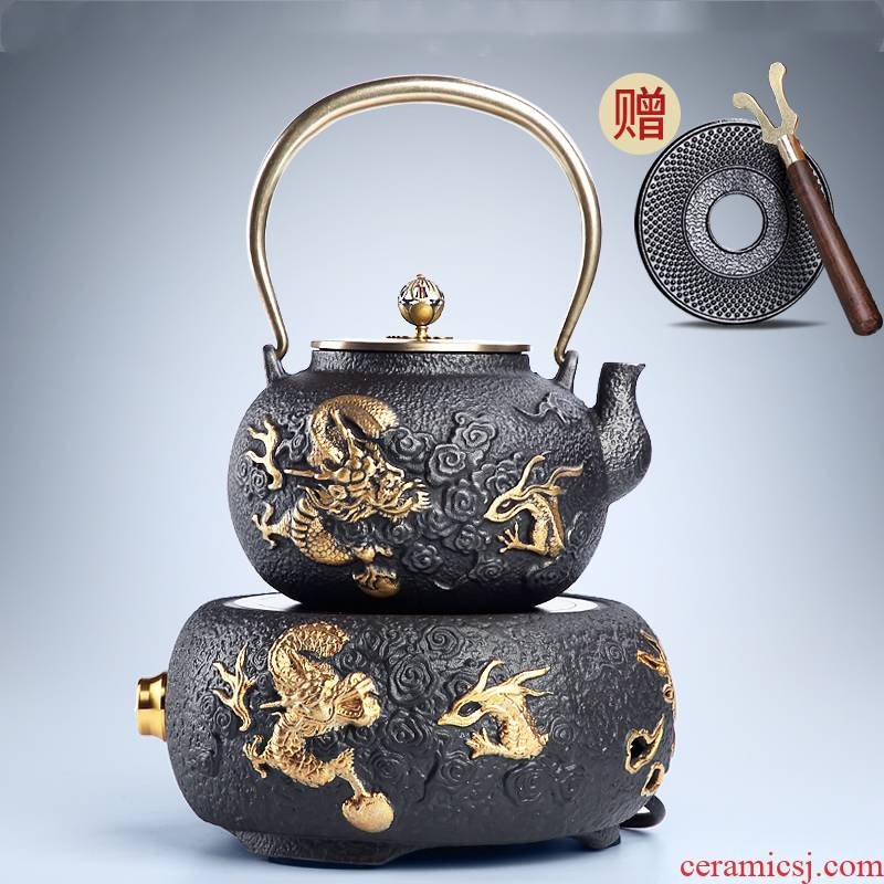 Iron pot of cast Iron tea pure manual home tea stove teapot suit the electric TaoLu boiled tea, the tea stove cooking kettle is special