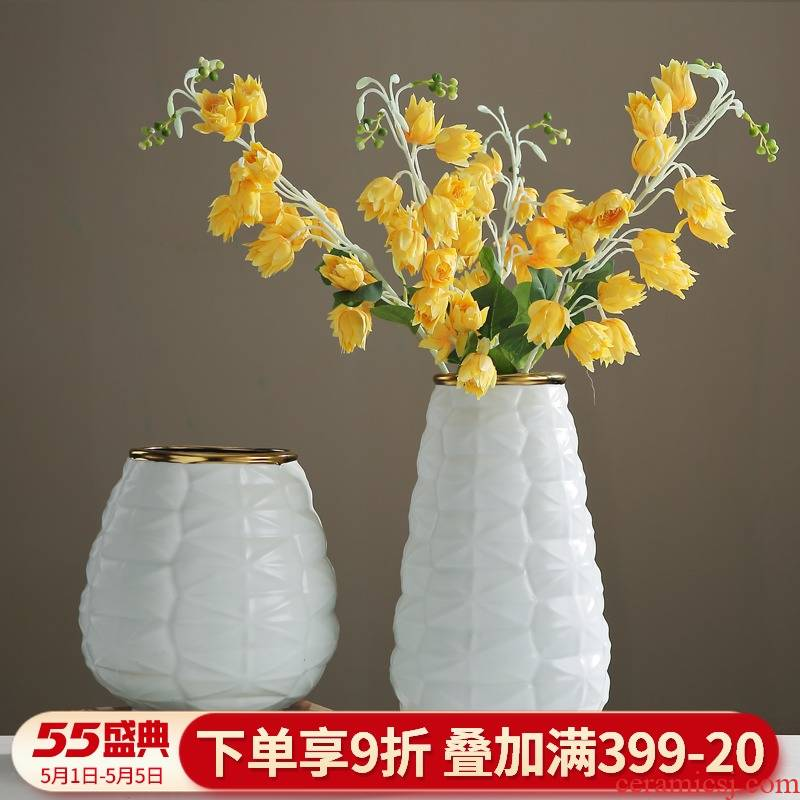 I and contracted furnishing articles sitting room put dry flower art ceramic vase Nordic porch TV cabinet table home decoration