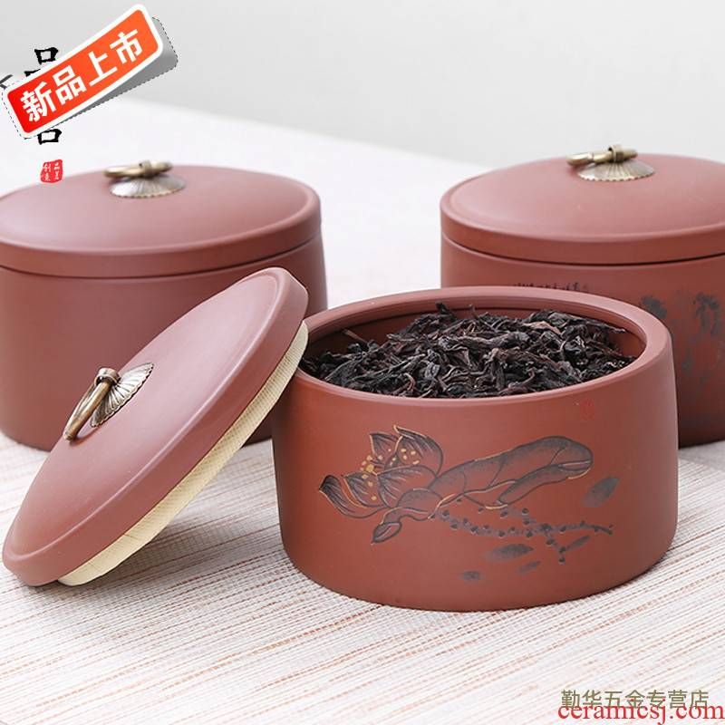 Yixing purple sand tea pot large ceramic seal tank receives the pu 'er tea to wake put POTS tea custom