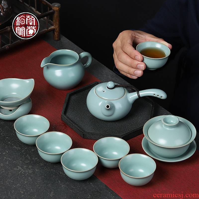 Ceramic kung fu tea set authentic piece of vintage your up to leave but have contracted household cup your porcelain of a complete set of gift box