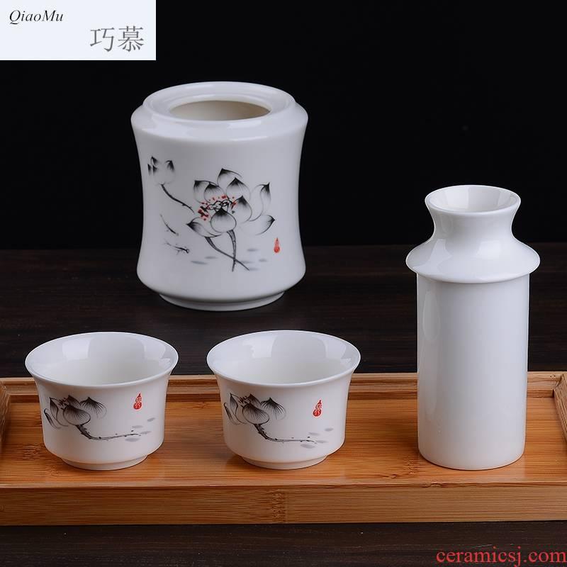 Qiao mu ceramic temperature wine pot yellow wine liquor warm cup of hot wine bottle wine drinking rice wine cup three two hip flask