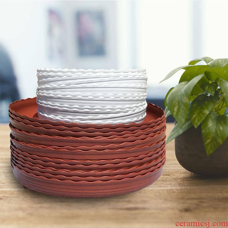 Flower pot mat leaking 20 pot tray plastic Flower POTS tap tap water pans flowerpot base pad