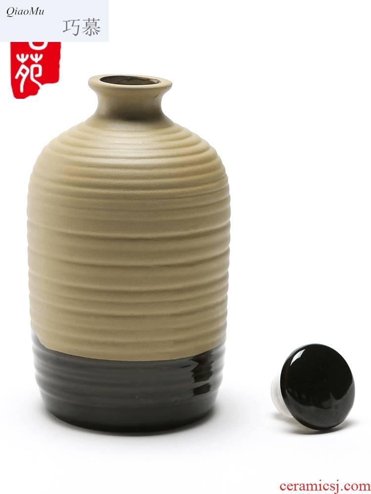 Qiao mu 1 kg pack TaoKong bottle unglazed ceramic jars soil sealing hoard bulk rice wine brewed white little hip