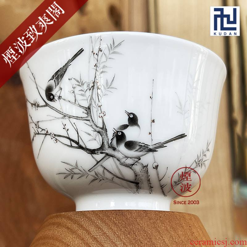 Jingdezhen nine calcinations color ink painters porcelain hand beaming keller cup sample tea cup