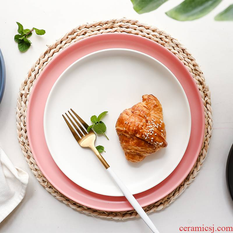Marca dragon dish matte enrolled glaze color ceramic western food dish home breakfast dish disk shallow steak plate of pasta dish