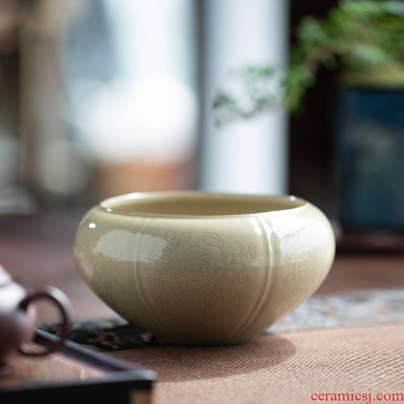 Up scratching flying wash to harmony of jingdezhen ceramic tea set with parts to use tea zero water wash dishes