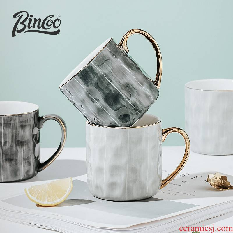 Bincoo ceramic coffee cup mark cup high - grade household contracted office afternoon tea cup creative ins of the wind