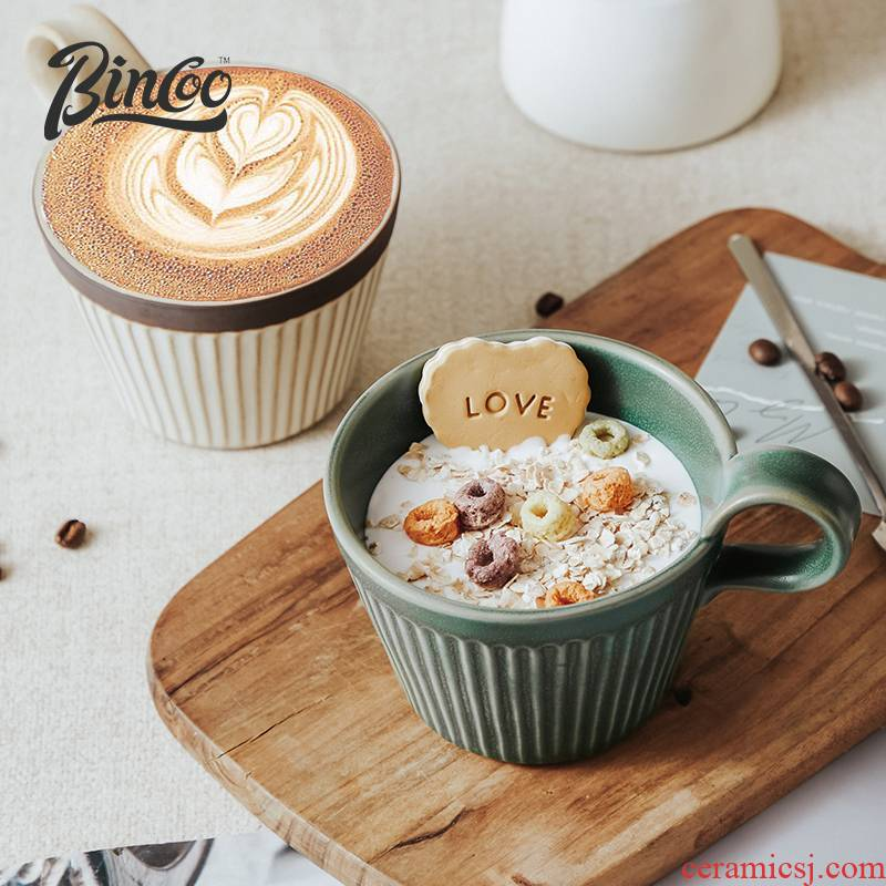 Bincoo retro ceramic coffee cup keller manual hand Japanese contracted coarse pottery breakfast cup coffee cups