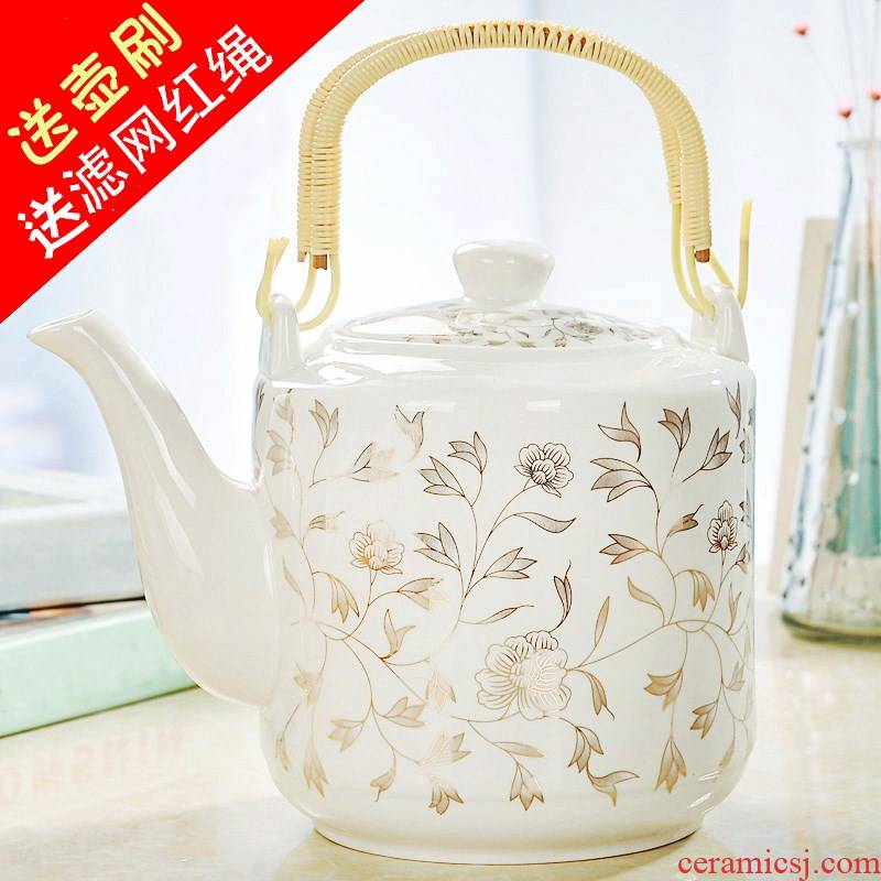 Ceramic pot of cold water household teapot large - capacity single pot of cold water bottle Chinese jingdezhen porcelain hotel
