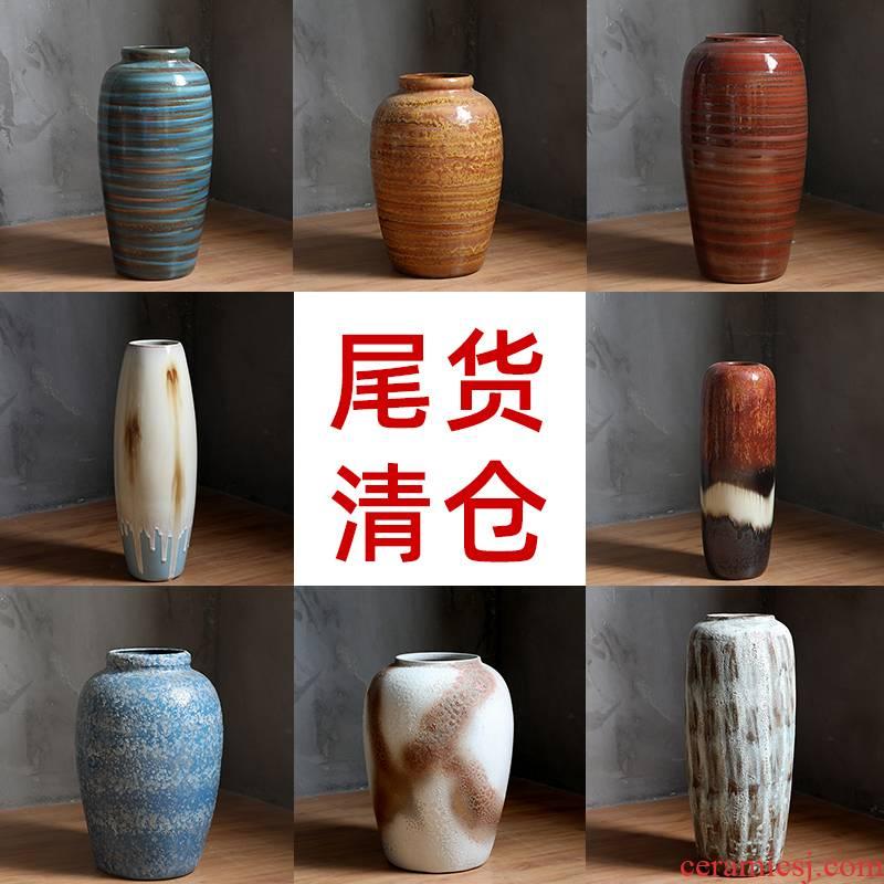 Clearance tail cargo handling of jingdezhen ceramics living room flower arranging furnishing articles water raise floor vase flowerpot restoring ancient ways