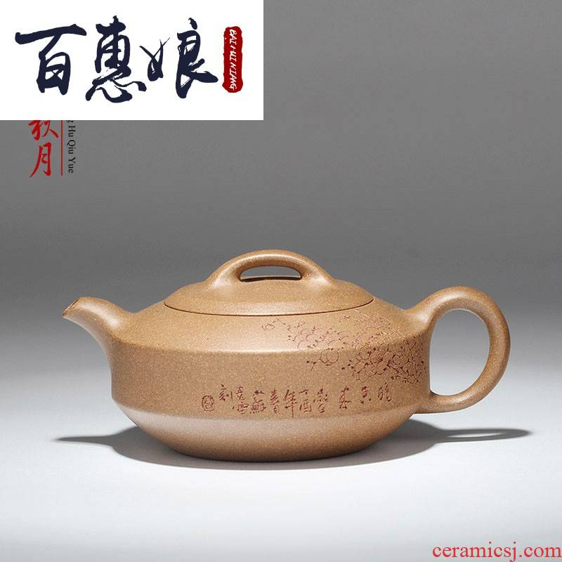 (hand famous ore old niang it period of mud flat pu 'er tea tea set small han household the teapot