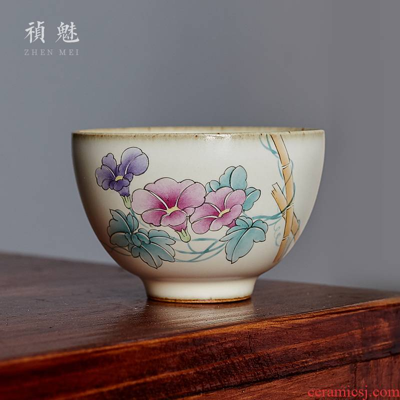 Shot incarnate your up hand - made morning glory of jingdezhen ceramic cups kung fu tea set personal sample tea cup master cup single CPU