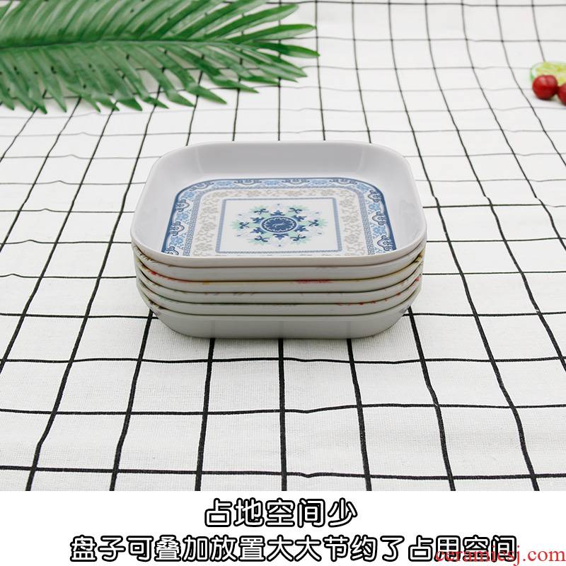 Japanese melamine imitation porcelain table with dried fruit, small fruit bowl counter vomit ipads plate of household garbage dessert snacks in dishes