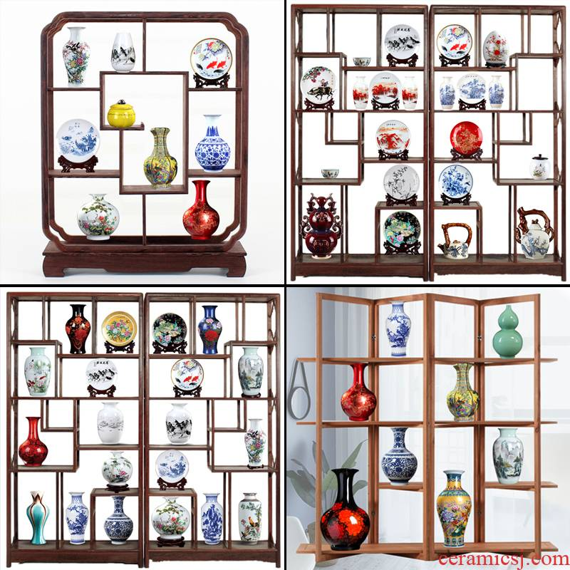 ABCDE package jingdezhen rich ancient frame ceramic vase furnishing articles wine Chinese porcelain handicraft ornament