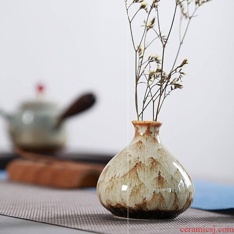 Jingdezhen ceramics mini furnishing articles dried flowers fashion floret bottle of flower, flower implement hydroponic manual home decoration