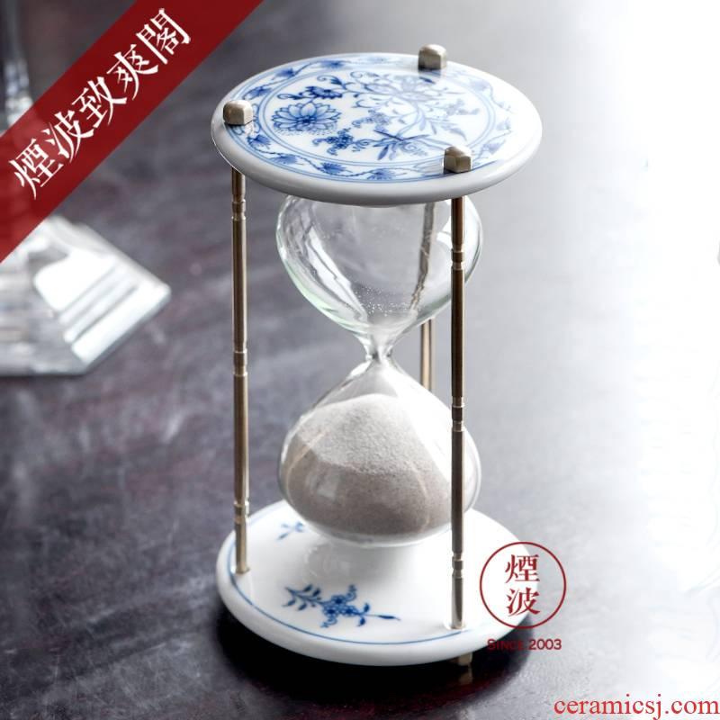 German MEISSEN porcelain mason classic blue onion series hourglass creative home furnishing articles