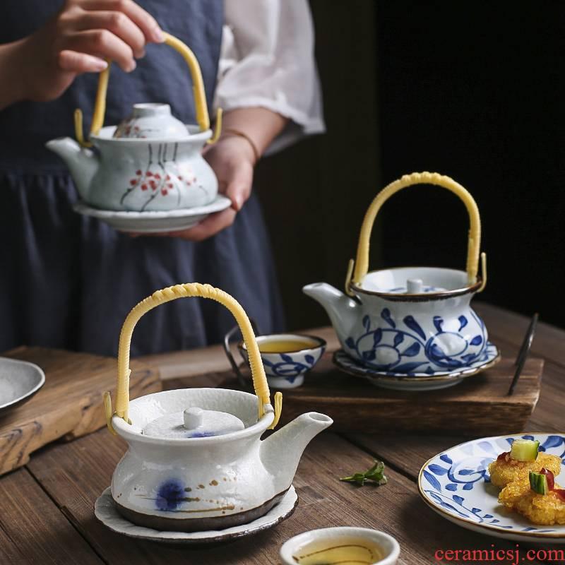 丨 Japanese cuisine bottle steamed seafood soup kettle soil creative tea cups with porcelain ceramic POTS shop
