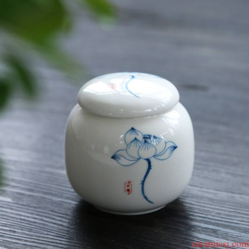 Hui shi ice crack glaze ceramic purple small tea pot caddy fixings tea boxes, tea boxes of tea boxes
