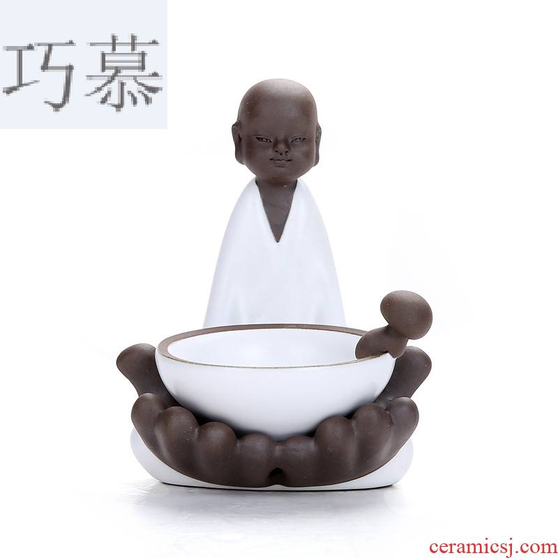 Qiao mu contracted elder brother up creative character filtering network frame your up ceramic) kung fu tea accessories tea home