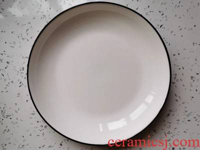 Dishes suit I and contracted household high - grade ceramic tableware to heat the hot ipads porcelain spoon fish dish