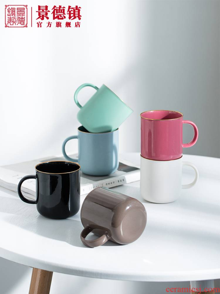 Creative jingdezhen ceramic mugs Nordic contracted and ultimately responds a cup of small capacity coffee cup cup multicolor milk cup