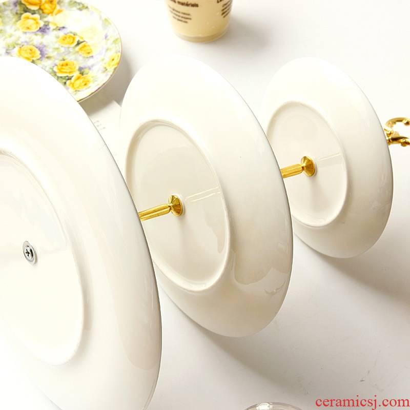 Qiao mu 【 】 European three layer plate ceramic dried fruit snacks bundt cake ipads China