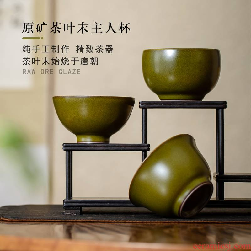 Single cup tea cup at the end of the master of jingdezhen ceramic kung fu tea set large personal special pure color sample tea cup