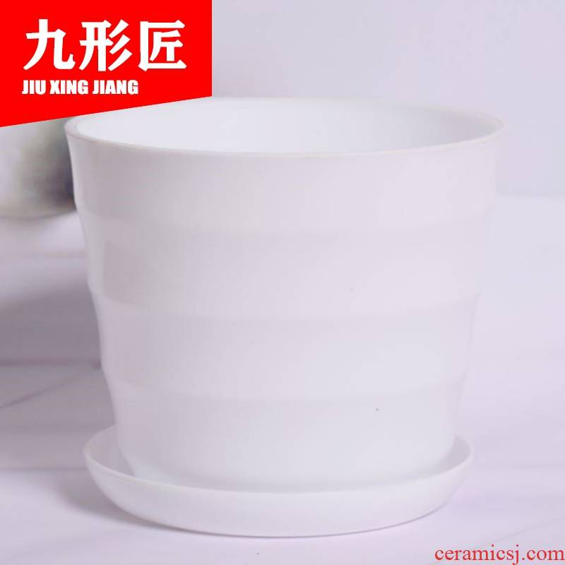 Imitation ceramic resin plastic circular large flower pot, fleshy desktop color other Chinese rose, indoor flower pot in the balcony