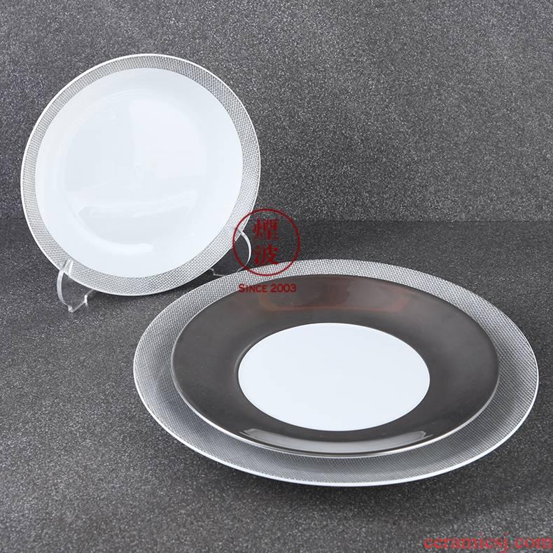 German MEISSEN mason mason meisen platinum porcelain grid platinum plate tableware