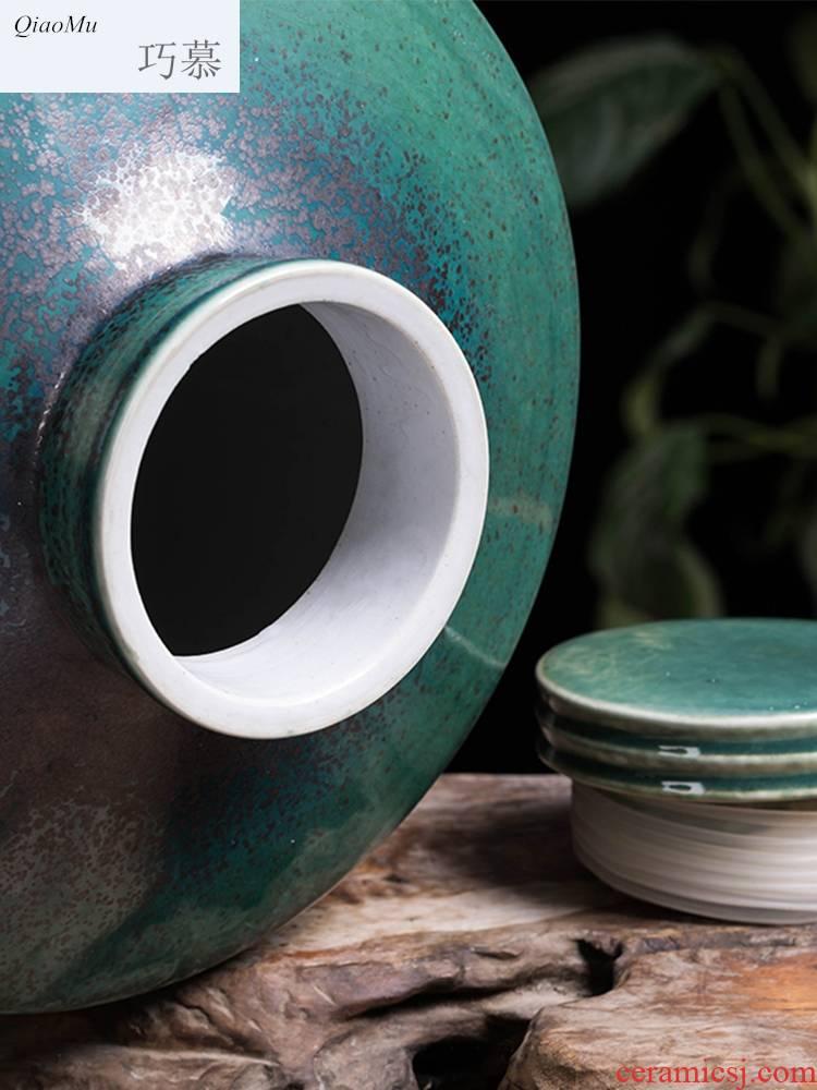 Qiao mu ceramic jars home antique carved possession of hip wine bottle 5 kg/20 jins seal it wine