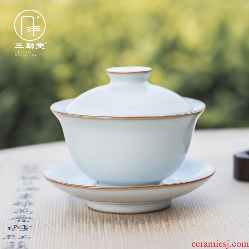 Three new frequently don your up to tureen kung fu tea tureen jingdezhen porcelain hooves all hand cups