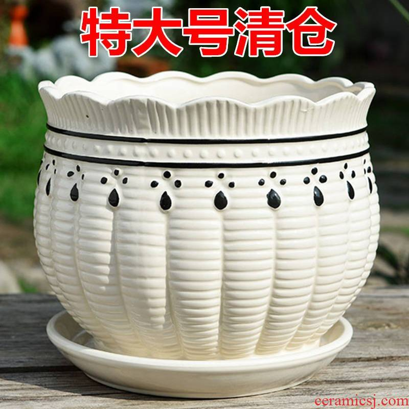 Flowerpot ceramics with tray was oversized planted landau crab claw meat pure color jade special may time! Lovely fine mud