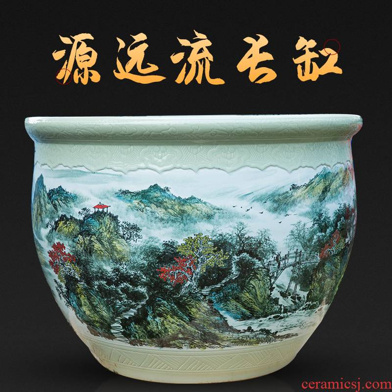 Jingdezhen ceramics has a long history in the hand - made landing fish tank sitting room garden furnishing articles study calligraphy and painting the receive a potted plant POTS