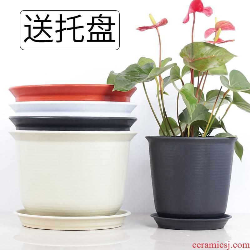 Other plastic oversized Nordic style flowerpot meaty plant a balcony round ceramic flower pot